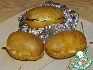 Рецепт Картофель, запечённый с салом