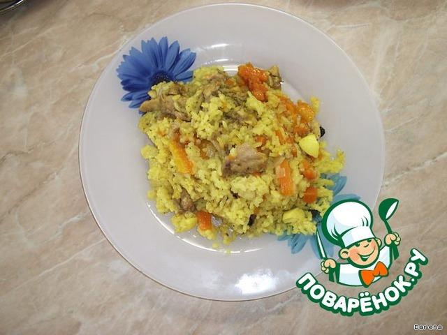 Как готовить Плов из курицы простой пошаговый рецепт с фотографиями #5