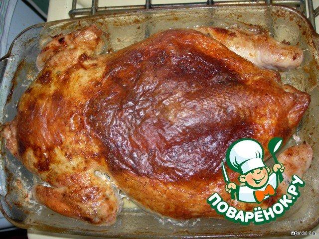 Рецепт вкусной фаршированной курицы в духовке с фото с