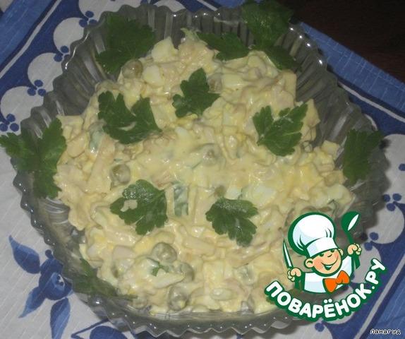 салат домашний с курицей рецепт с фото пошагово