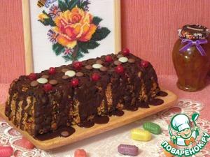 Рецепт Кекс с овсяными хлопьями, тыквенными семечками, клюквой и сухофруктами