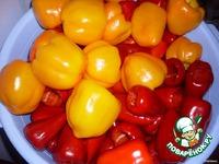 Обжаренный перец в маринаде ингредиенты