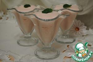 Рецепт Мусс из вишневого йогурта