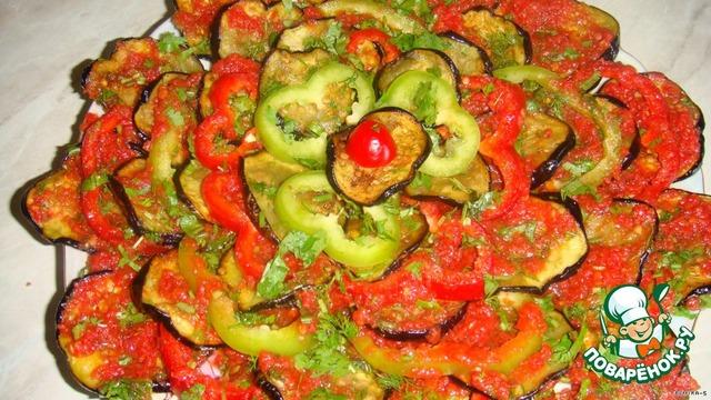Салат из баклажанов с пошаговым