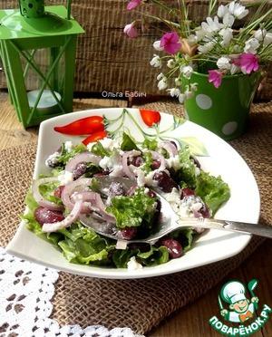 Рецепт Тосканский салат из красной фасоли