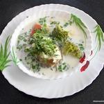 Суп из налима с брокколи и сливками