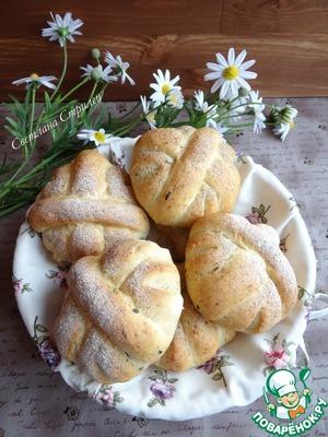 Рецепт Хлеб с зеленью петрушки и моцареллой