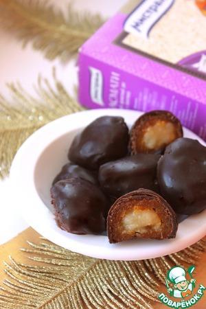Рецепт Рисовые ириски в кураге с горьким шоколадом