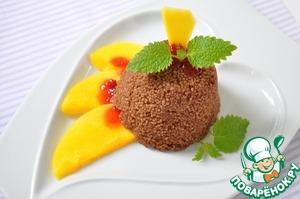 Шоколадный кускус с теплым манго и мятой пошаговый рецепт с фотографиями