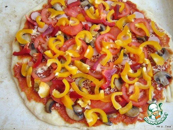 Пицца овощная рецепт с фото #8