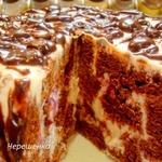Шоколадный торт с творожно-йогуртовым кремом