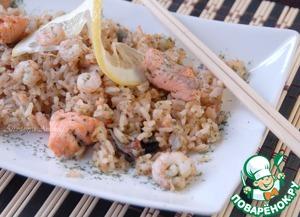 Рецепт Рис с креветками в тайском стиле