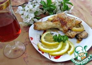 Рецепт Cosce di pollo con il limone/куриные ножки с лимоном
