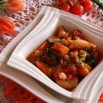 Картофельно-тыквенный постный айнтопф с грибами и белой фасолью