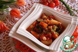 Рецепт Картофельно-тыквенный постный айнтопф с грибами и белой фасолью