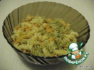 Салат из макарон с креветками простой рецепт с фотографиями пошагово как готовить #1