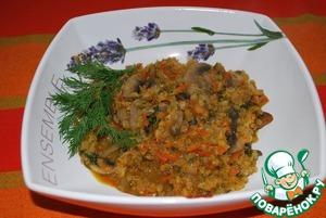 Рецепт Красная чечевица с шампиньонами