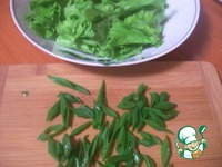 Салат овощной со свежими шампиньонами и кабачком ингредиенты