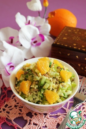 Рецепт Салат с пшеном и апельсином
