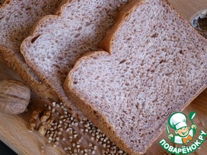 Рецепт Хлеб гречневый с грецкими орехами и чесноком