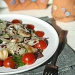 Салат с фасолью и помело