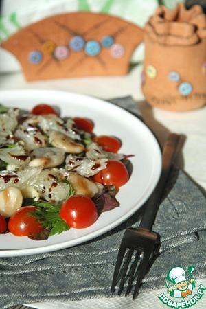 Рецепт Салат с фасолью и помело