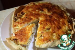 Рецепт Лоранский пирог с куриным филе и шампиньонами
