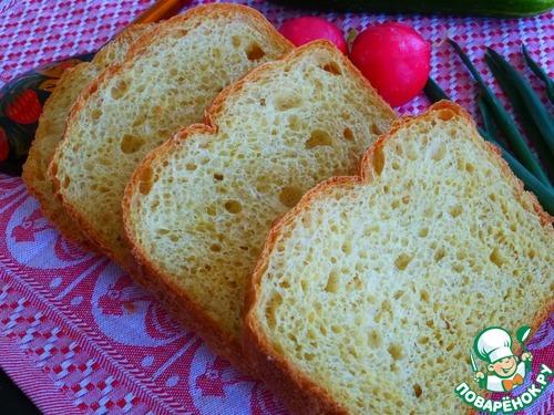 Хлеб из овсяных хлопьев с кукурузной мукой - кулинарный рецепт