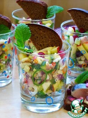 Рецепт Закусочный селедочный салат