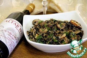 Рецепт Салат из дикого риса с грибами