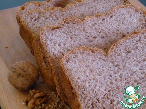 Хлеб гречневый с грецкими орехами и чесноком – кулинарный рецепт