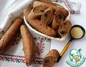 Рецепт Домашние багеты с гречневой мукой и черносливом