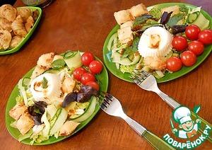 Рецепт Салат с равиоли и яйцом-пашот