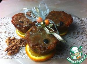 Рецепт Морковно-ореховый десерт с изюмом в лаймовой глазури