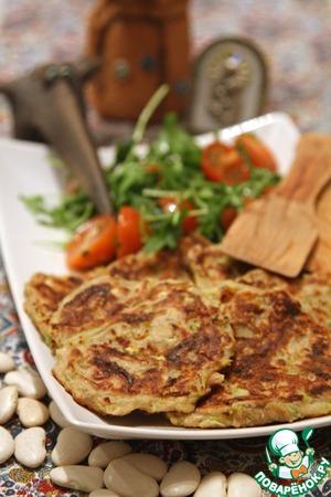 Рецепт Постные оладьи из фасоли лима и кабачка