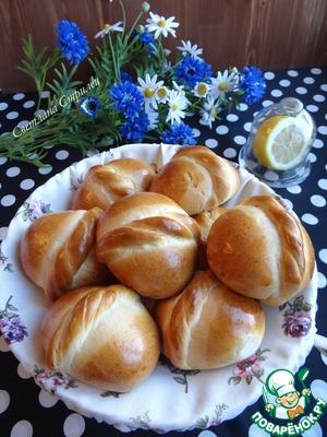 Рецепт Медовые булочки с начинкой из сливочно-творожного сыра