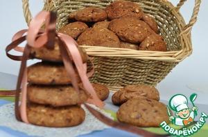 Рецепт Печенье овсяно-шоколадное