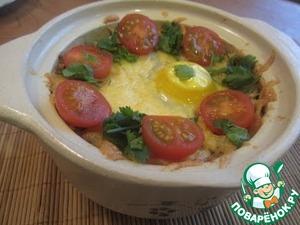 Рецепт Гарнир из риса с грибами в горшочке