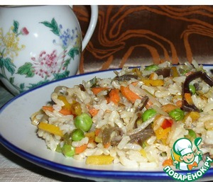 Рецепт Романтический рис с овощами по-восточному