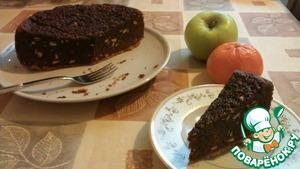 Рецепт Брауни с орехами на песочном тесте