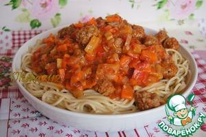 """Рецепт Спагетти с """"итальянской"""" подливой"""