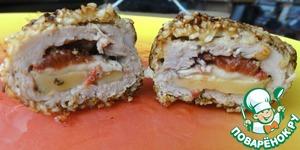 Рецепт Зашнурованная свинина с простой начинкой