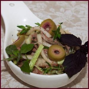 Рецепт Салат с кольраби и телятиной