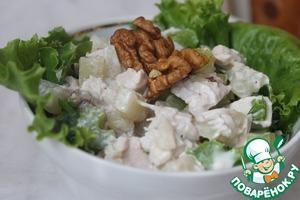 Рецепт Курино-ананасовый салат с сельдереем