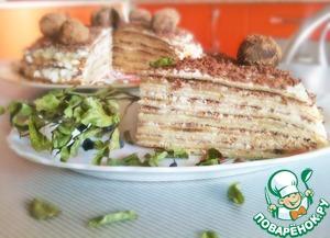 Рецепт Блинный торт с бананами и шоколадом