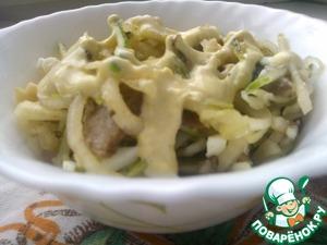 Рецепт Кальмаровый салат с грибами