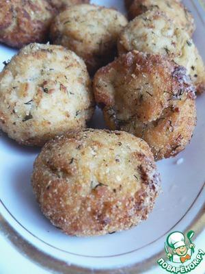 Рецепт Куриные крокеты с укропом и плавленым сыром