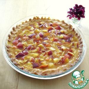 Рецепт Персиковый тарт с апельсиновой заливкой