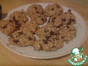 Рецепт Наивкуснейшее овсяное печенье с медом на скорую руку