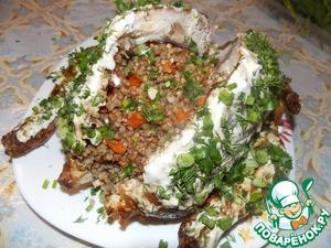 Рецепт Курица фаршированная гречкой